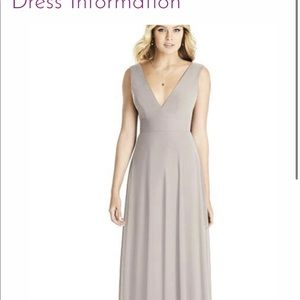 Dessy Bridesmaid Dress Style 8185 in Taupe